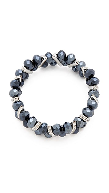 Kenneth Jay Lane Crystal & Beaded Stretch Bracelet