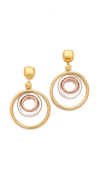 Kenneth Jay Lane Concentric Hoop Earrings