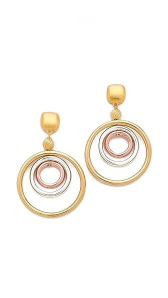 Kenneth Jay Lane Concentric Hoop Earrings