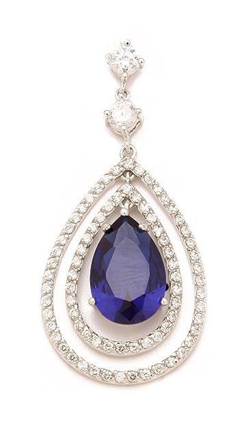 Kenneth Jay Lane Pave Pear Drop Earrings