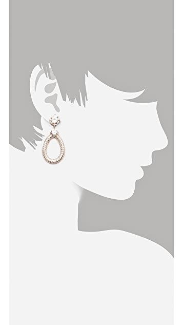 Kenneth Jay Lane Pave Door Knocker Earrings