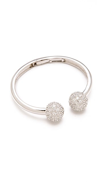 Kenneth Jay Lane Pave Ball Cuff
