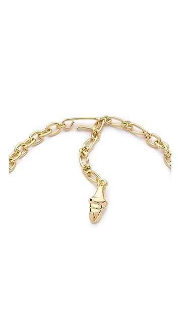 Kenneth Jay Lane Enamel Geo Drops Necklace