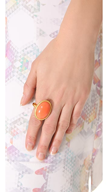 Kenneth Jay Lane Oval Cabochon Ring