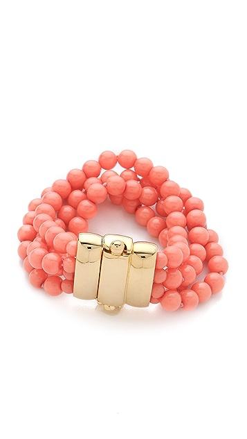 Kenneth Jay Lane Beaded Bracelet