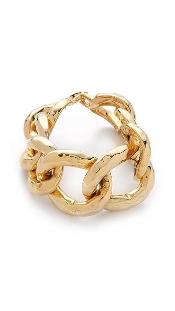 Kenneth Jay Lane Hammered Link Bracelet
