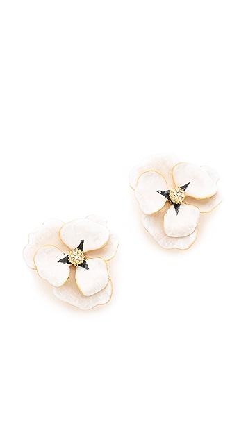 Kenneth Jay Lane Oversized Flower Earrings