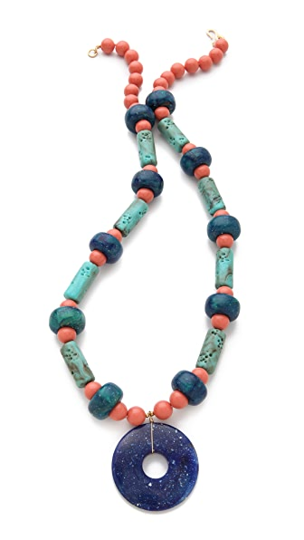 Kenneth Jay Lane Beaded Pendant Necklace