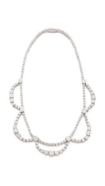 Kenneth Jay Lane Gradual Drape Round CZ Necklace