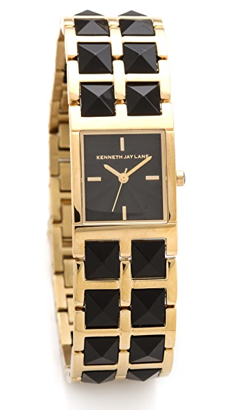 Kenneth Jay Lane Double Stud Bracelet Watch