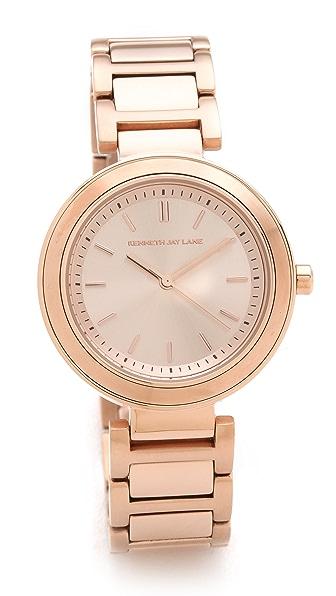Kenneth Jay Lane Slim Bracelet Watch