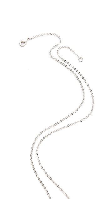 Kenneth Jay Lane Tear Deco Pendant Necklace