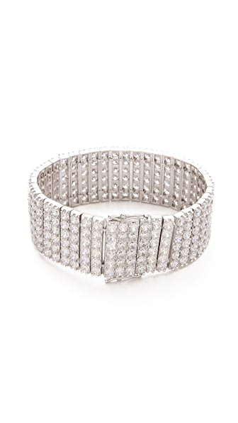 Kenneth Jay Lane Round Row Statement Bracelet