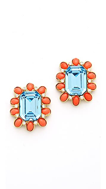 Kenneth Jay Lane Oversized Stud Earrings
