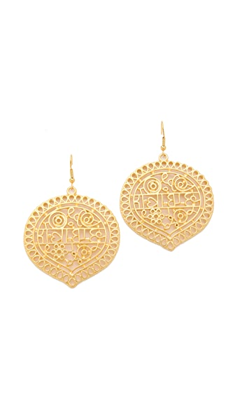 Kenneth Jay Lane Carved Drop Earrings