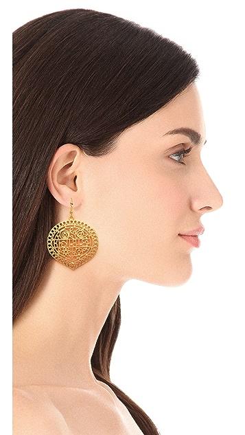 Kenneth Jay Lane Carved Drop Earrings