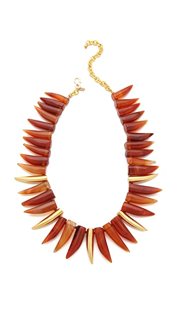 Kenneth Jay Lane Agate Horn Necklace