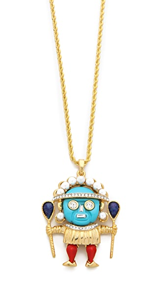 Kenneth Jay Lane Medicine Man Pendant Necklace