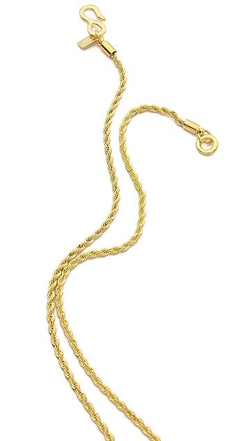 Kenneth Jay Lane Medicine Man Pendant Necklace