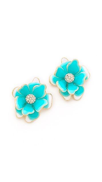 Kenneth Jay Lane Flower Post Earrings