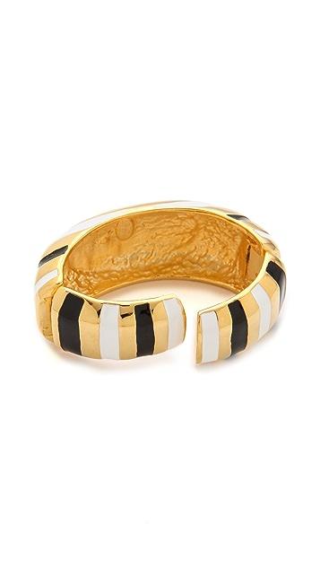 Kenneth Jay Lane Enamel Cuff Bracelet
