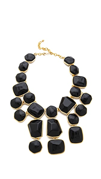 Kenneth Jay Lane Stone Bib Necklace