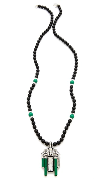 Kenneth Jay Lane Deco Pendant Necklace