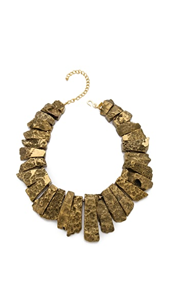 Kenneth Jay Lane Graduated Stick Agate Necklace