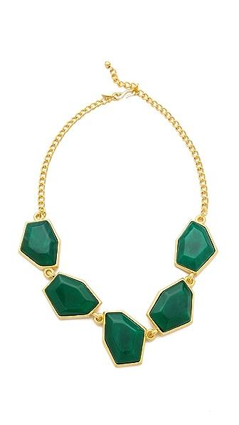 Kenneth Jay Lane Hexagon Malachite Necklace