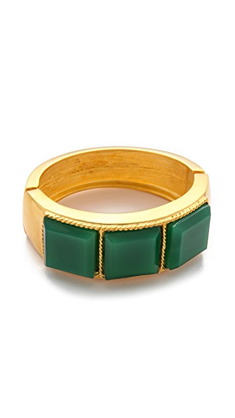 Kenneth Jay Lane Jade Square Cuff Bracelet