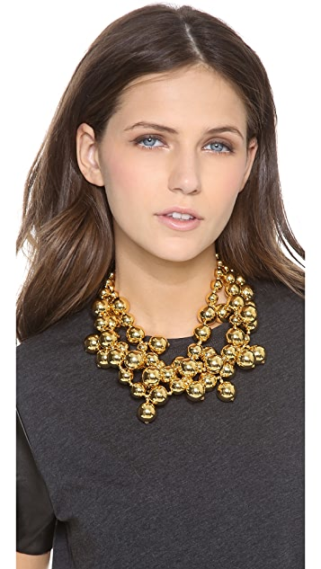 Kenneth Jay Lane Layered Beaded Necklace