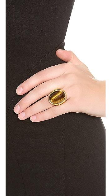 Kenneth Jay Lane Large Stone Ring