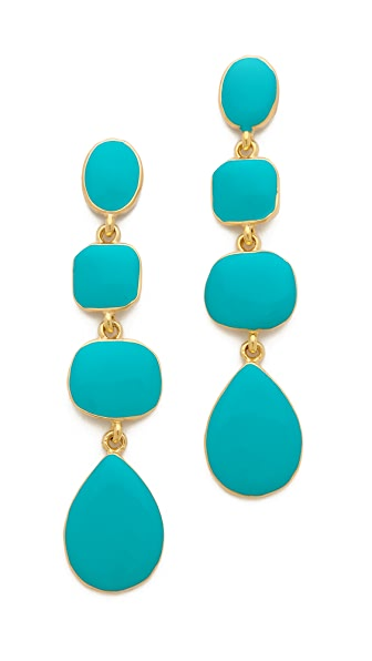 Kenneth Jay Lane Geometric Drop Earrings