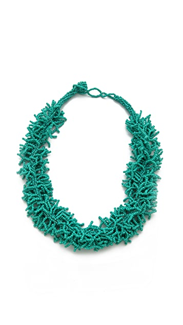 Kenneth Jay Lane Beaded Coral Necklace