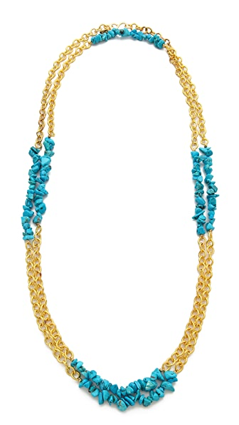 Kenneth Jay Lane Stone & Chain Interval Necklace