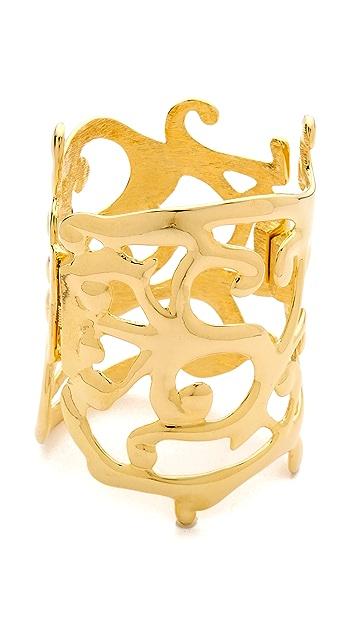 Kenneth Jay Lane Swirl Cuff Bracelet