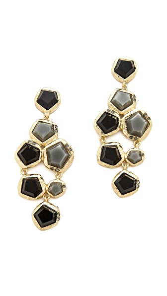 Kenneth Jay Lane Aged Stone Earrings