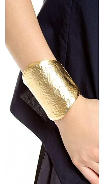 Kenneth Jay Lane Oversized Hammered Cuff Bracelet