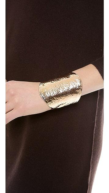 Kenneth Jay Lane Oversized Hammered Cuff Bracelet