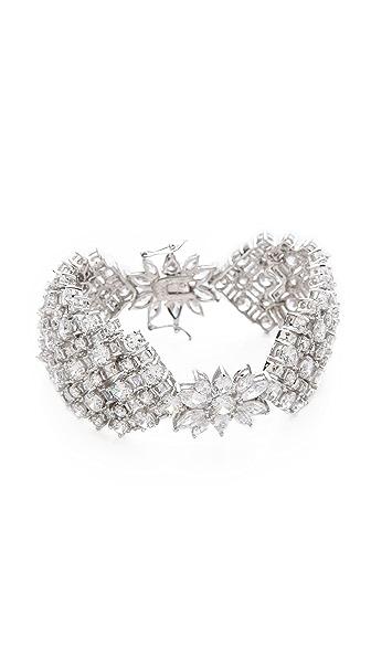 Kenneth Jay Lane Multi CZ Tapered Bracelet