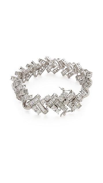 Kenneth Jay Lane Basket Weave Deco Bracelet