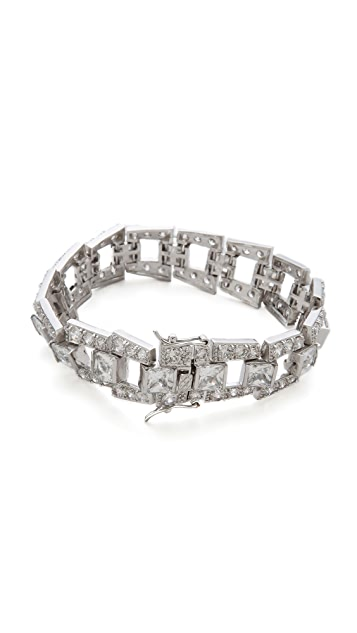 Kenneth Jay Lane Princess CZ Deco Step Bridge Bracelet