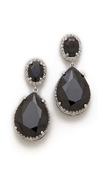 Kenneth Jay Lane Oval & Pear Dangle Statement Earrings