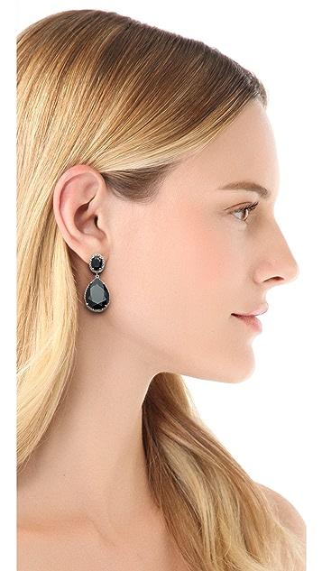 Kenneth Jay Lane Oval & Pear Dangle Statement Earrings
