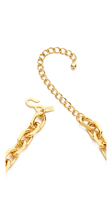 Kenneth Jay Lane Chain & Stick Necklace