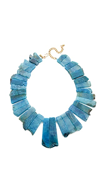 Kenneth Jay Lane Short Stone Necklace