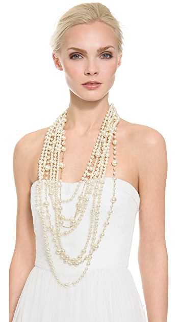 Kenneth Jay Lane Layered Faux Pearl Necklace