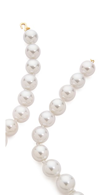 Kenneth Jay Lane Large Imitation Pearl Necklace