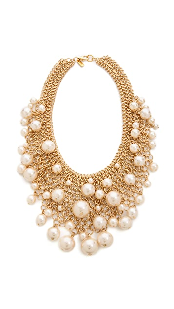 Kenneth Jay Lane Cascading Imitation Pearl Necklace