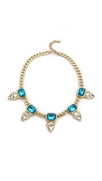 Kenneth Jay Lane Gem Station Necklace